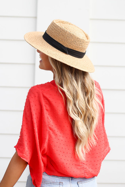 Tan - cute summer boater hat