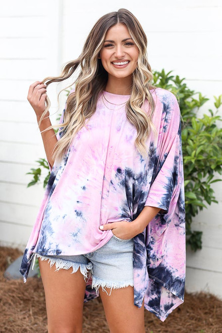 Pink - oversized top at dress up