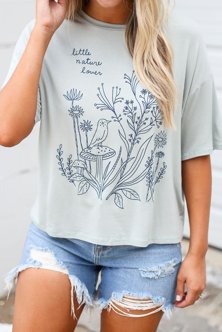 Mint - Little Nature Lover Graphic Tee from Dress Up