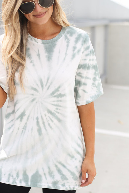 Mint - Tie-Dye Boyfriend Tee from Dress Up