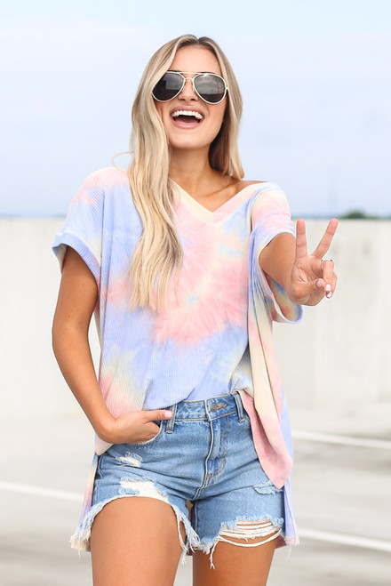 Pink - Oversized Tie-Dye Top from Dress Up