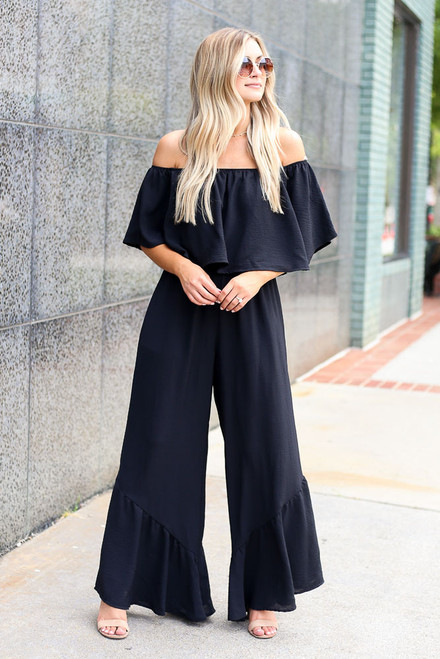 Black - Wide Leg Jumpsuit