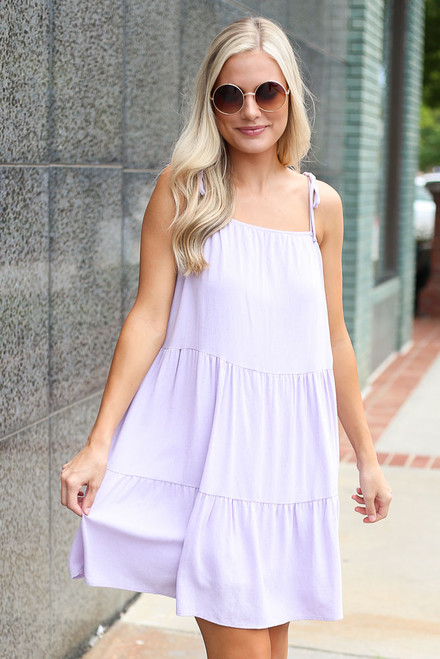 Lavender - Tiered Babydoll Dress