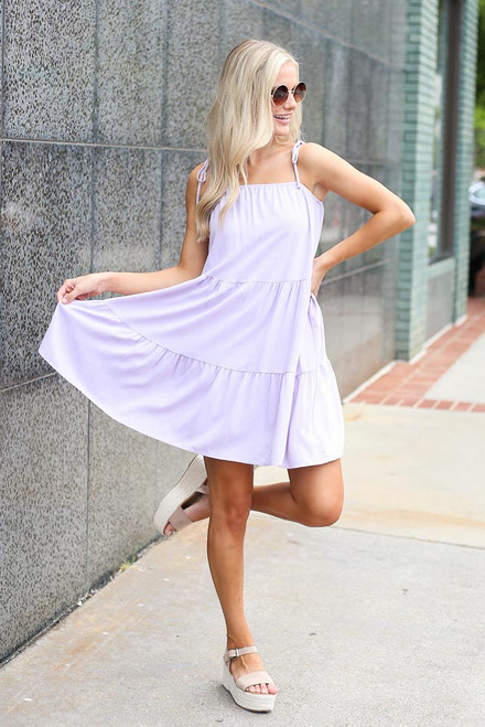 Lavender - Tiered Babydoll Dress from Dress Up