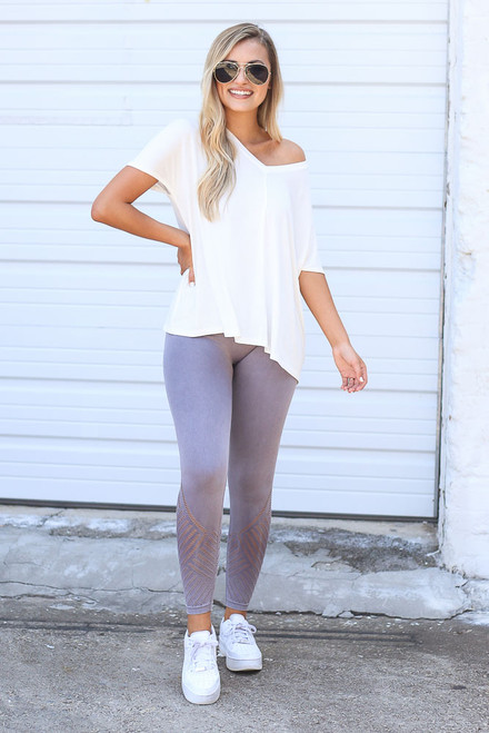Mauve - Seamless High-Waisted Leggings