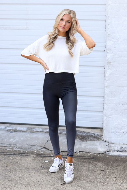 Charcoal - Ombre High-Waisted Leggings