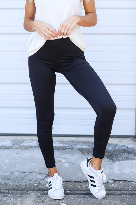 Black - High-Waisted Leggings from Dress Up