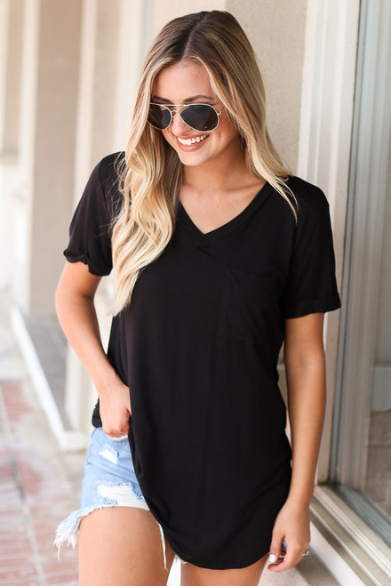 Black - Ultra Soft Pocket Tee