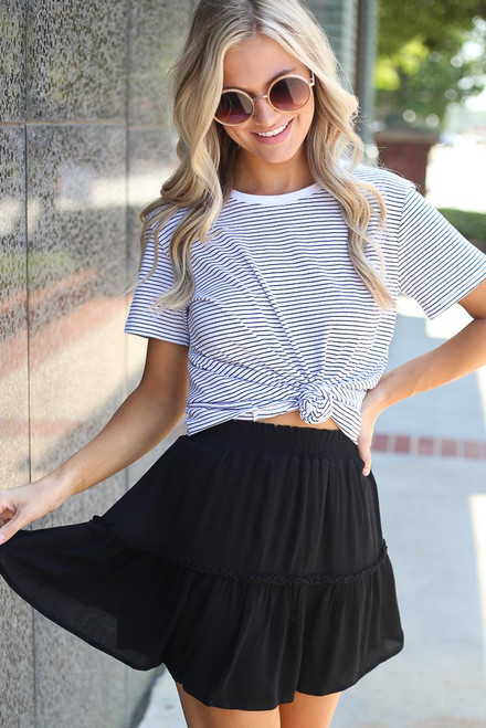 Black - Tiered Skirt