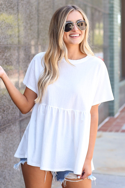 Ivory - Babydoll Top