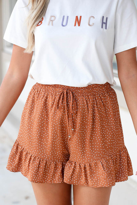 Rust - Polka Dot Shorts