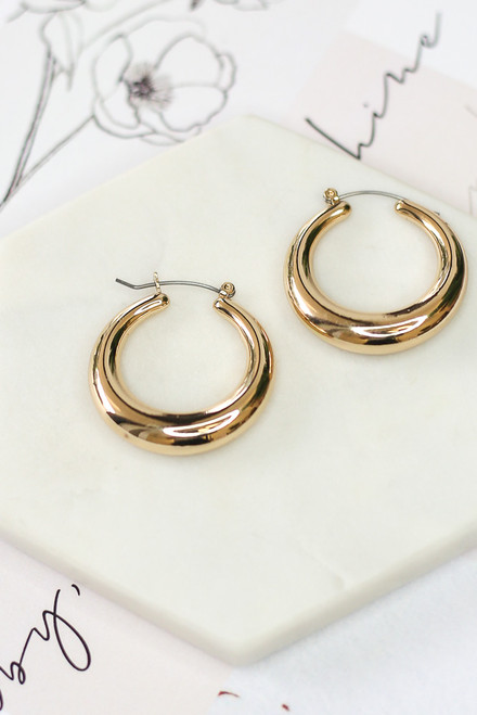 Gold - Hoop Earring Set from Dress Up