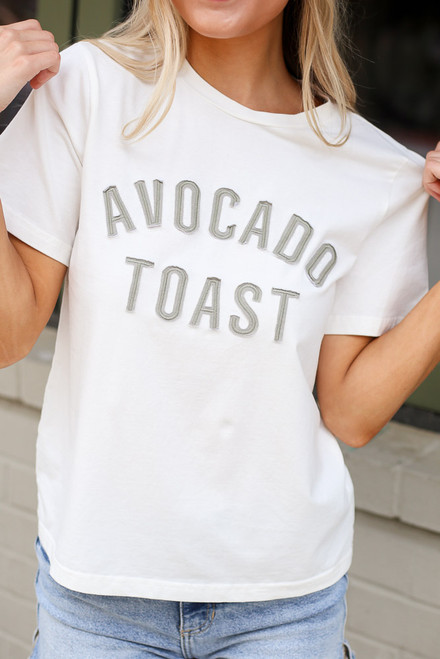 Ivory - Avocado Toast Graphic Tee from Dress Up