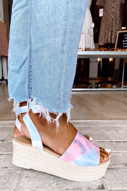 Pink - Tie-Dye Platform Espadrilles from Dress Up
