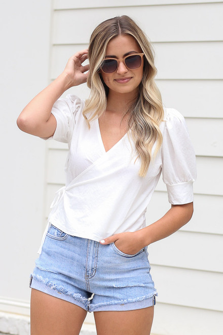 Ivory - cute wrap top at dress up