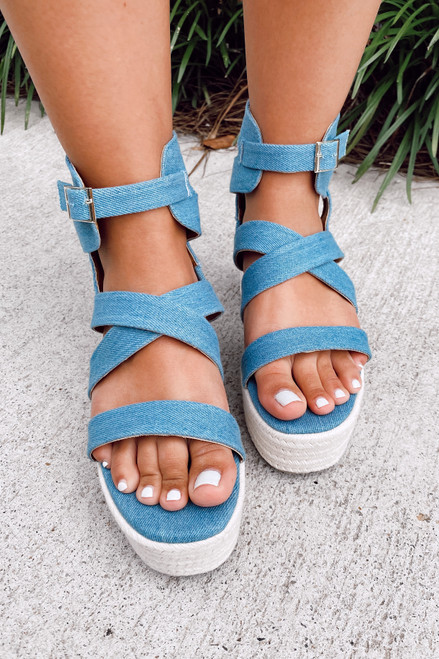 Denim - Strappy Platform Espadrilles from Dress Up