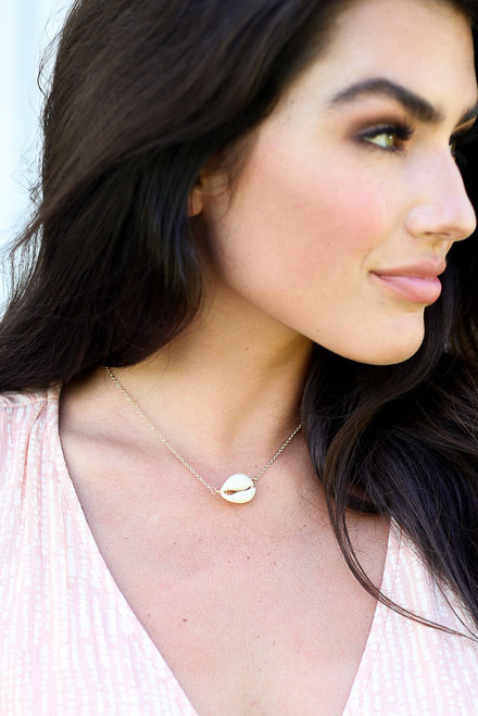 Gold - Cowrie Shell Necklace