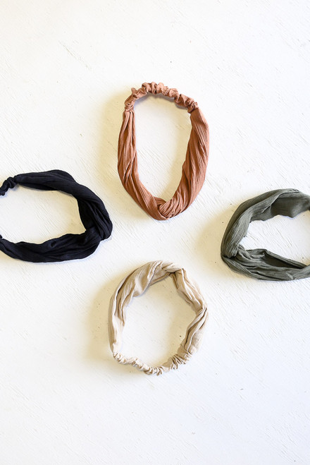Tan - Knotted Headband