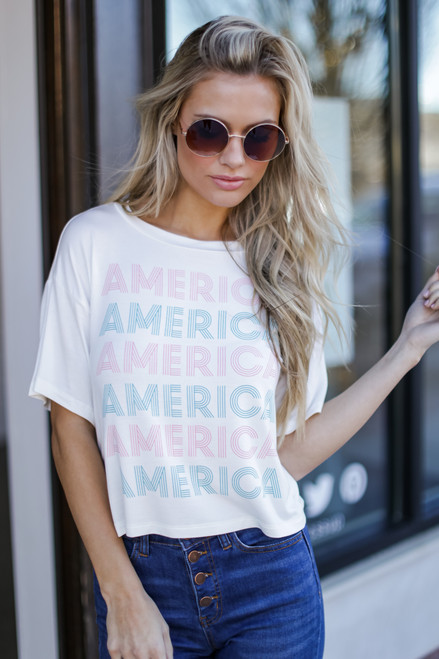 White - America Graphic Tee