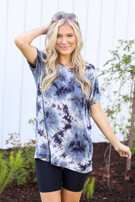 Navy - Oversized Tie-Dye Top from Dress Up