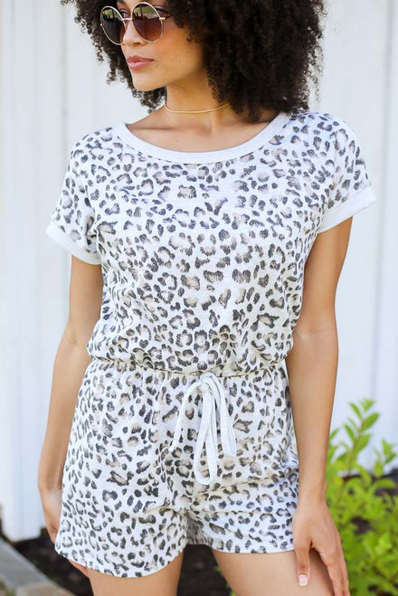 Grey - Leopard Romper from Dress Up
