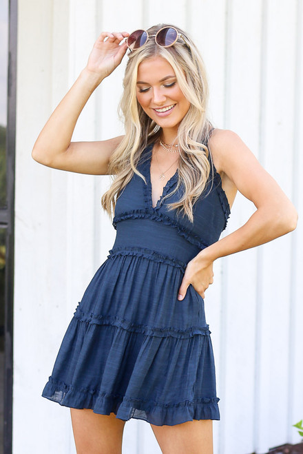 Navy - shop cute dresses at shopdressup