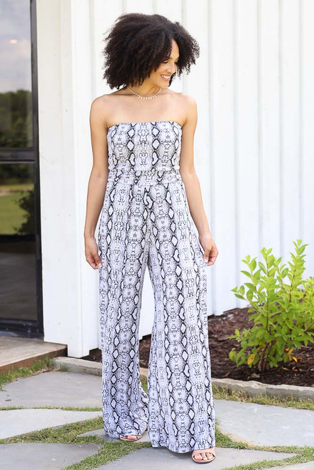 Snake - Snakeskin Strapless Jumpsuit from Dress Up