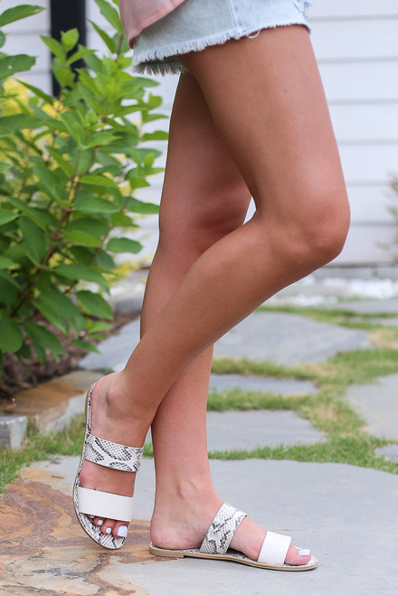 White - Snakeskin Sandals from Dress Up