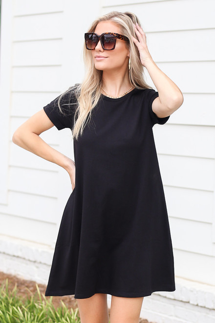 Black - T-Shirt Dress
