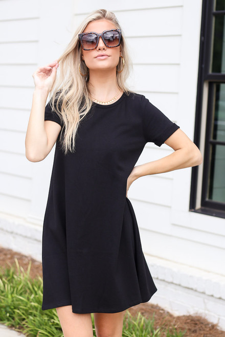 Black - T-Shirt Dress from Dress Up