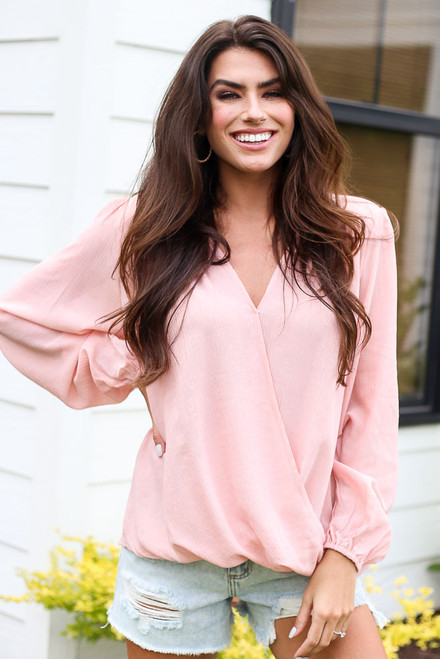 Blush - Surplice Blouse