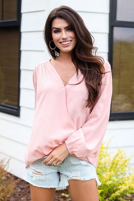 Blush - Surplice Blouse from Dress Up