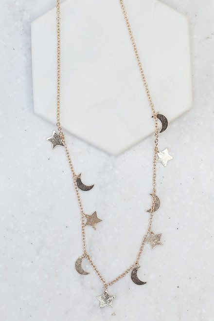 Gold - Celestial Necklace from Dress Up