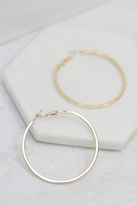 Gold - Medium Hoop Earrings from Dress Up