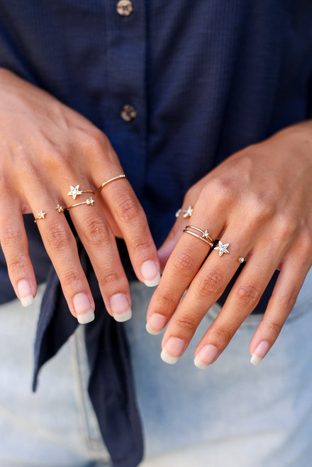 Gold - Star Ring Set