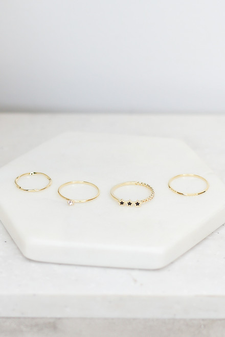 Gold - Dainty Ring Set from Dress Up