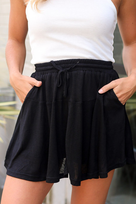 Black - Swing Skort from Dress Up