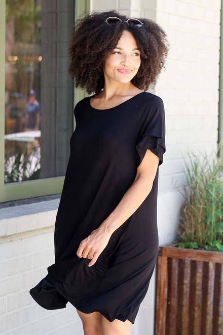 Black - Ruffle Sleeve Dress from Dress Up