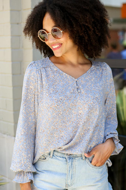 Denim - Floral Blouse from Dress Up