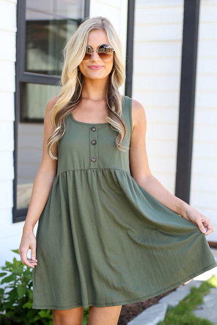 Olive - cute babydoll dress at shopdressup