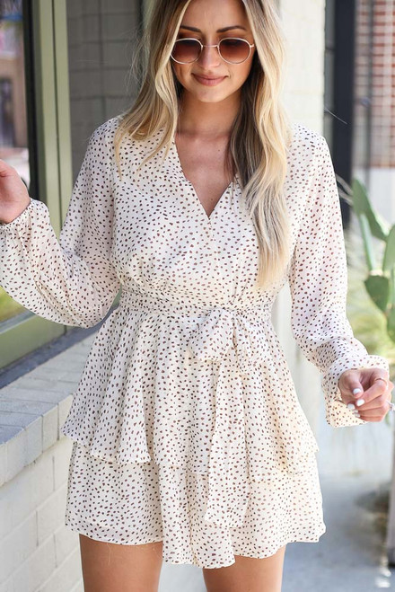 Ivory - Spotted Tiered Romper from Dress Up