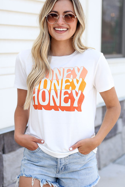 White - Honey Graphic Tee