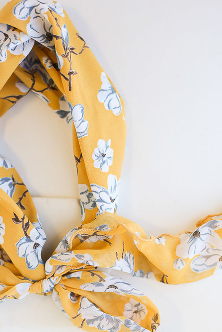 Yellow - Floral Headband at dress up