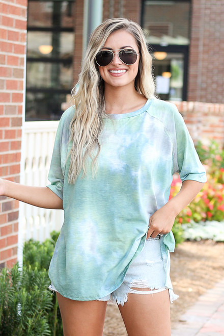 Teal - cute tie-dye t-shirt at dress up
