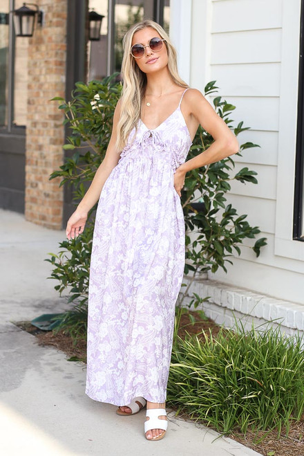 Lavender - Paisley Maxi Dress