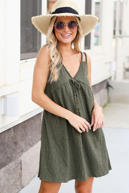 Olive - Shop Braided Babydoll Dresses at Dress Up