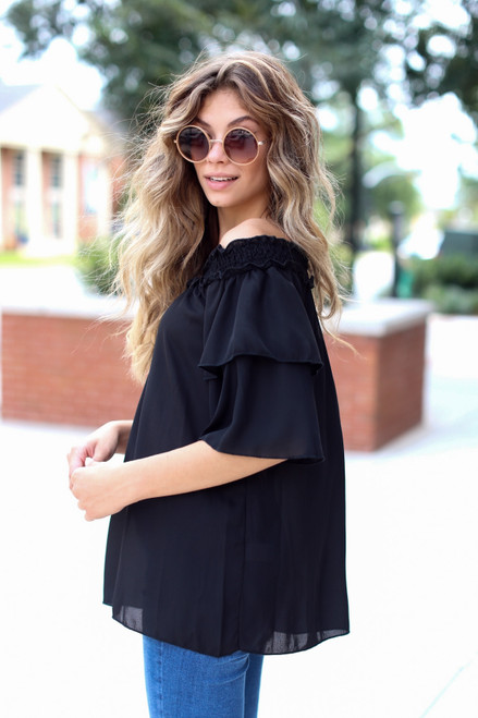 Black - Off-the-Shoulder Blouse from Dress Up