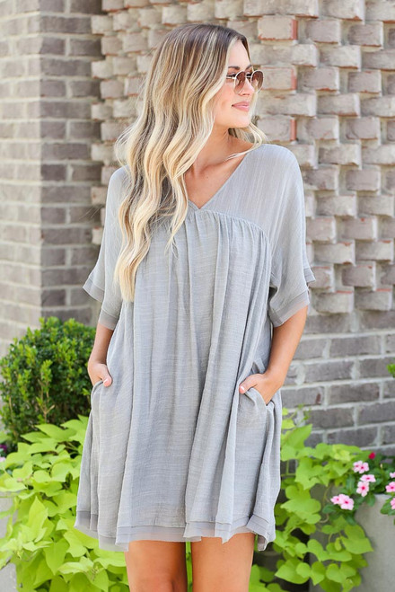 Sage - Babydoll Dress
