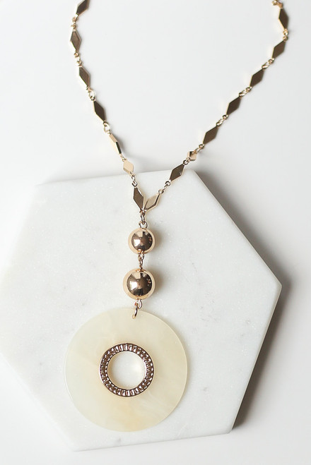 Ivory - Gold Pendant Necklace