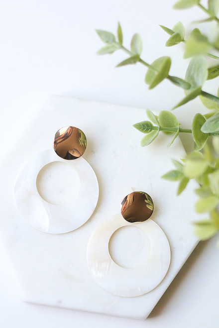 Ivory - Statement Earrings from Dress Up